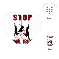 Stop Animal Testing   Rabbits  Playing Cards (heart)