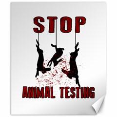 Stop Animal Testing   Rabbits  Canvas 8  X 10