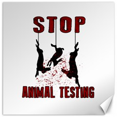 Stop Animal Testing   Rabbits  Canvas 20  X 20