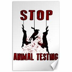 Stop Animal Testing   Rabbits  Canvas 24  X 36