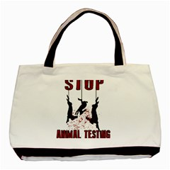 Stop Animal Testing   Rabbits  Basic Tote Bag (two Sides)