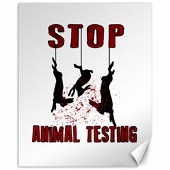 Stop Animal Testing   Rabbits  Canvas 11  X 14