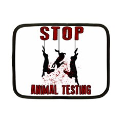 Stop Animal Testing   Rabbits  Netbook Case (small)
