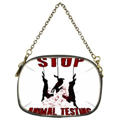 Stop Animal Testing   Rabbits  Chain Purses (one Side)