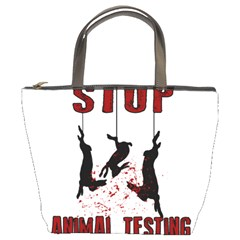 Stop Animal Testing   Rabbits  Bucket Bags