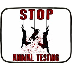 Stop Animal Testing   Rabbits  Double Sided Fleece Blanket (mini)