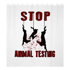 Stop Animal Testing   Rabbits  Shower Curtain 66  X 72  (large)
