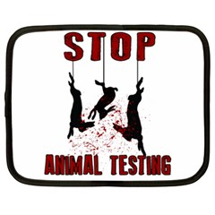 Stop Animal Testing   Rabbits  Netbook Case (xxl)