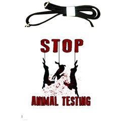 Stop Animal Testing   Rabbits  Shoulder Sling Bags