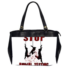 Stop Animal Testing   Rabbits  Office Handbags (2 Sides)