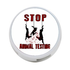 Stop Animal Testing   Rabbits  4 Port Usb Hub (two Sides)