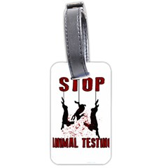 Stop Animal Testing   Rabbits  Luggage Tags (two Sides)