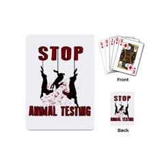 Stop Animal Testing   Rabbits  Playing Cards (mini)