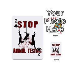 Stop Animal Testing   Rabbits  Playing Cards 54 (mini)