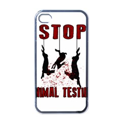 Stop Animal Testing   Rabbits  Apple Iphone 4 Case (black)