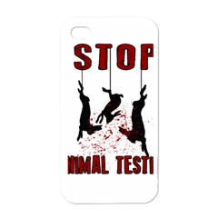 Stop Animal Testing   Rabbits  Apple Iphone 4 Case (white)