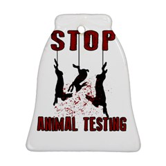 Stop Animal Testing   Rabbits  Ornament (bell)