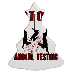 Stop Animal Testing   Rabbits  Christmas Tree Ornament (two Sides)