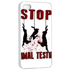 Stop Animal Testing   Rabbits  Apple Iphone 4/4s Seamless Case (white)