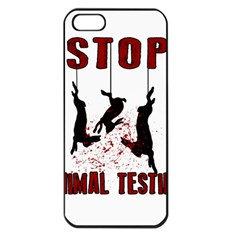 Stop Animal Testing   Rabbits  Apple Iphone 5 Seamless Case (black)