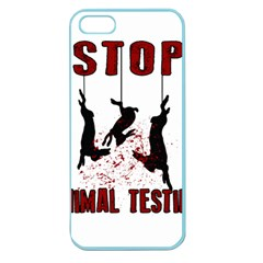 Stop Animal Testing   Rabbits  Apple Seamless Iphone 5 Case (color)