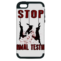 Stop Animal Testing   Rabbits  Apple Iphone 5 Hardshell Case (pc+silicone)