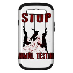 Stop Animal Testing   Rabbits  Samsung Galaxy S Iii Hardshell Case (pc+silicone)