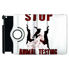 Stop Animal Testing   Rabbits  Apple Ipad 2 Flip 360 Case