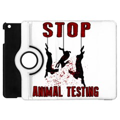 Stop Animal Testing   Rabbits  Apple Ipad Mini Flip 360 Case