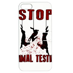 Stop Animal Testing   Rabbits  Apple Iphone 5 Hardshell Case With Stand
