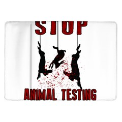 Stop Animal Testing   Rabbits  Samsung Galaxy Tab 10 1  P7500 Flip Case