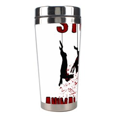 Stop Animal Testing   Rabbits  Stainless Steel Travel Tumblers