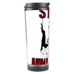 Stop Animal Testing   Rabbits  Travel Tumbler