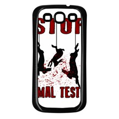 Stop Animal Testing   Rabbits  Samsung Galaxy S3 Back Case (black)