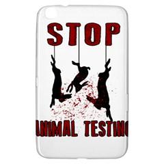Stop Animal Testing   Rabbits  Samsung Galaxy Tab 3 (8 ) T3100 Hardshell Case