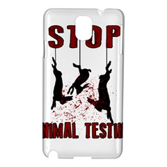 Stop Animal Testing   Rabbits  Samsung Galaxy Note 3 N9005 Hardshell Case