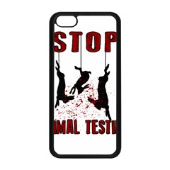 Stop Animal Testing   Rabbits  Apple Iphone 5c Seamless Case (black)