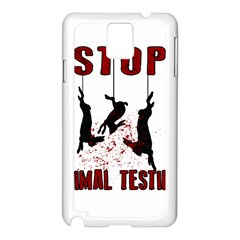 Stop Animal Testing   Rabbits  Samsung Galaxy Note 3 N9005 Case (white)