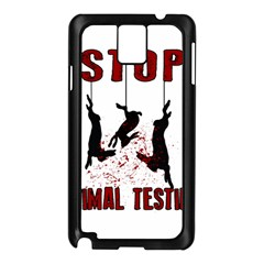 Stop Animal Testing   Rabbits  Samsung Galaxy Note 3 N9005 Case (black)
