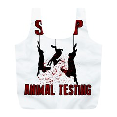 Stop Animal Testing   Rabbits  Full Print Recycle Bags (l)