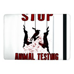 Stop Animal Testing   Rabbits  Samsung Galaxy Tab Pro 10 1  Flip Case