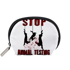 Stop Animal Testing   Rabbits  Accessory Pouches (small)
