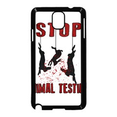Stop Animal Testing   Rabbits  Samsung Galaxy Note 3 Neo Hardshell Case (black)