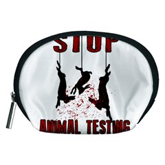 Stop Animal Testing   Rabbits  Accessory Pouches (medium)