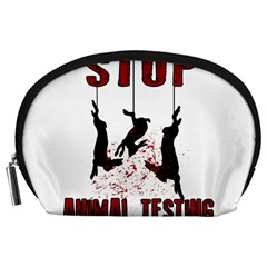 Stop Animal Testing   Rabbits  Accessory Pouches (large)