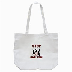 Stop Animal Testing   Rabbits  Tote Bag (white)