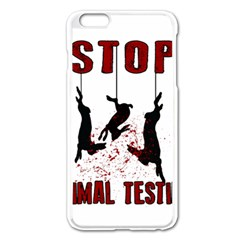 Stop Animal Testing   Rabbits  Apple Iphone 6 Plus/6s Plus Enamel White Case