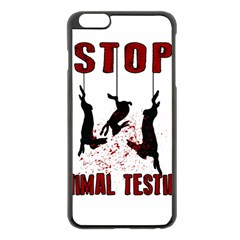 Stop Animal Testing   Rabbits  Apple Iphone 6 Plus/6s Plus Black Enamel Case