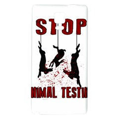 Stop Animal Testing   Rabbits  Galaxy Note 4 Back Case
