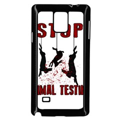 Stop Animal Testing   Rabbits  Samsung Galaxy Note 4 Case (black)